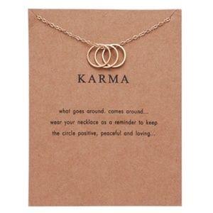 Dainty Three Ring Necklace - KARMA